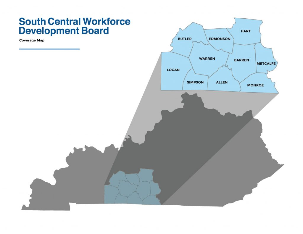 Map of South Central KY